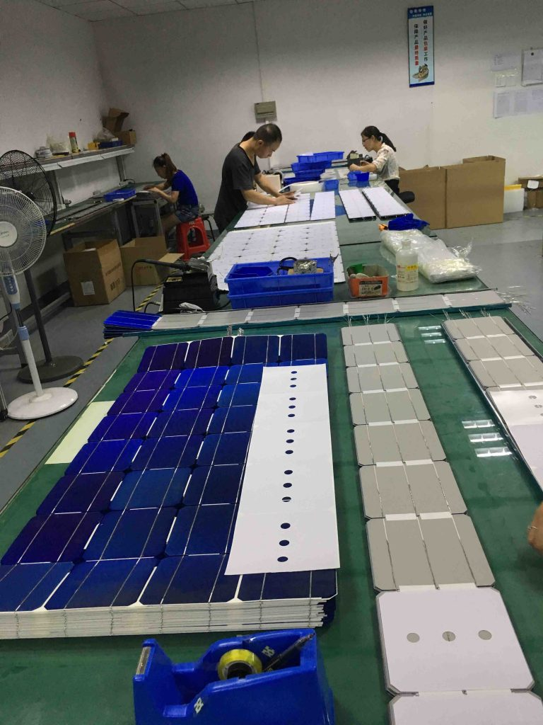 photovoltaic module Cells Soldering